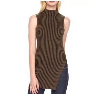 Rock & Republic Ribbed Sleeveless Tunic Sweater